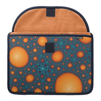 Orange bubbles sleeve for MacBook pro