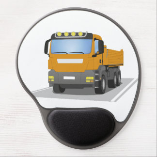 orange building sites truck gel mouse pad