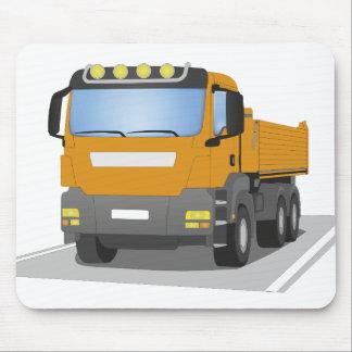 orange building sites truck mouse pad