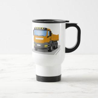 orange building sites truck travel mug