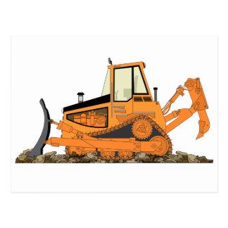 Orange Bulldozer Postcard