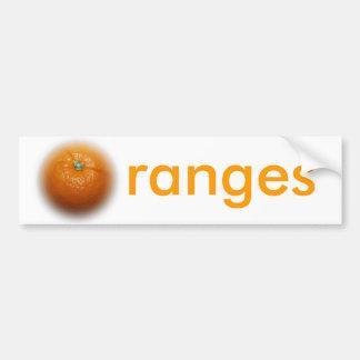 Orange Bumper Sticker
