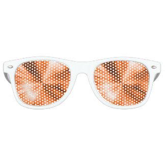 Orange Burst Retro Sunglasses