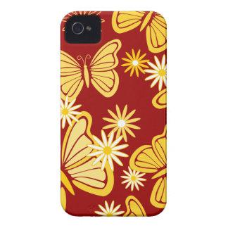 Orange butterflies BlackBerry Bold Case