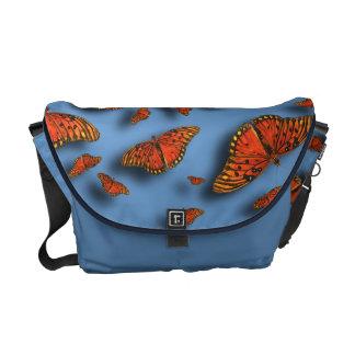 Orange Butterflies Messenger Bag