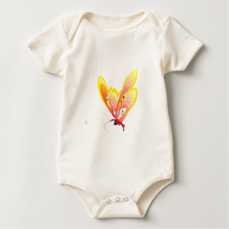 Orange Butterfly Baby Bodysuit
