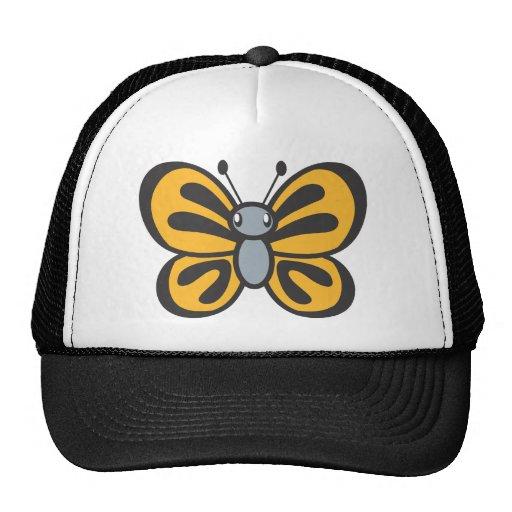 Orange Butterfly Cartoon Mesh Hat