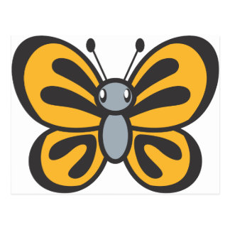 Orange Butterfly Cartoon Postcard