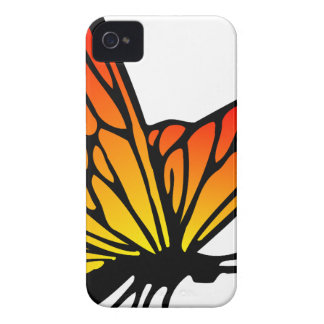 Orange Butterfly Drawing iPhone 4 Cover