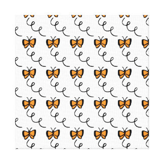Orange Butterfly Flight Stretched Canvas Prints