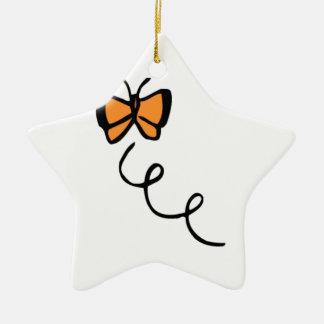 Orange Butterfly Flight Ornament