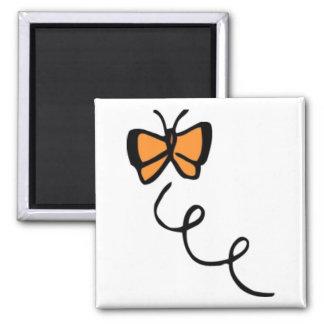 Orange Butterfly Flight Magnets