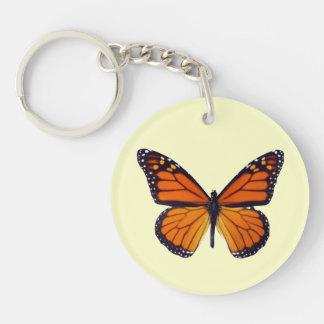 Orange Butterfly Key Chain