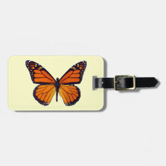 Orange Butterfly Luggage Tag