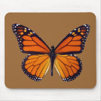 Orange Butterfly Mouse Pad
