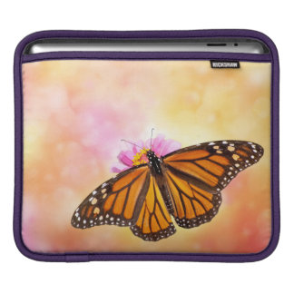 Orange Butterfly on Pink Sleeves For iPads