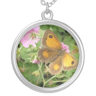 Orange butterfly pink flowers jewelry