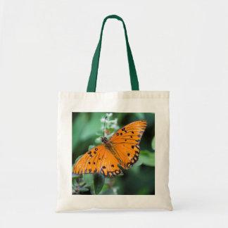 Orange Butterfly Reusable Bag