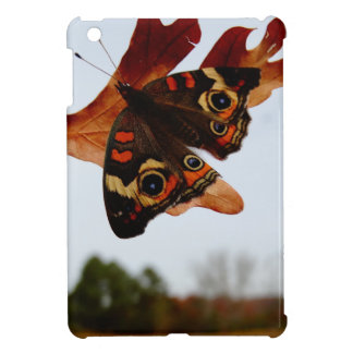 orange Butterfly  with blue spots iPad Mini Cover