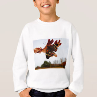 orange Butterfly  with blue spots Sweatshirt