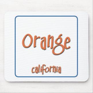 Orange California BlueBox Mouse Pad