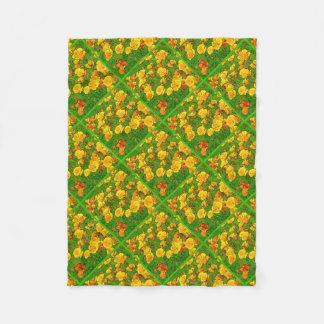 Orange California Poppies 2.2.2.g Fleece Blanket