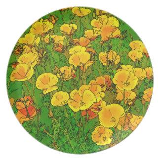 Orange California Poppies 2.2_rd Plate