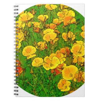 Orange California Poppies 2.2_rd Spiral Notebook