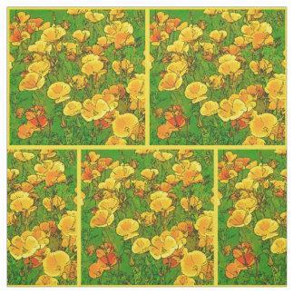 Orange California Poppies 2.2.y Fabric