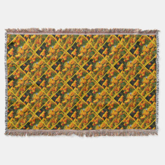 Orange California Poppies_3.3.y Throw Blanket