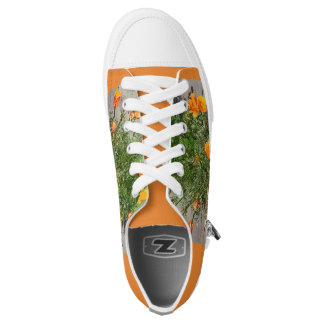 Orange California Poppy men's sneakers