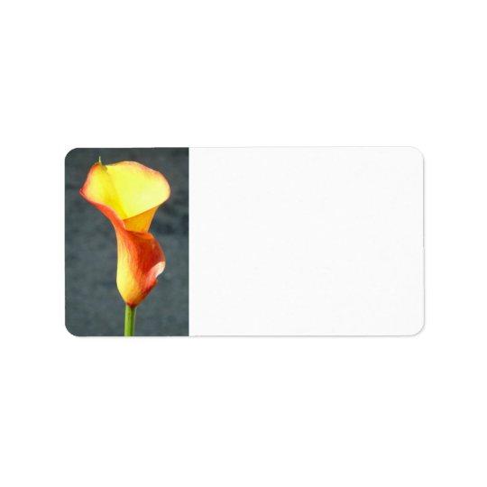 Orange Calla Lily Label