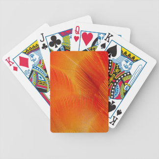 Orange Camelot Macaw Feather Abstract Bicycle Playing Cards