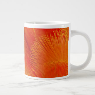 Orange Camelot Macaw Feather Abstract Large Coffee Mug