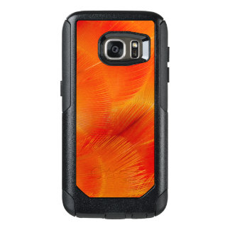 Orange Camelot Macaw Feather Abstract OtterBox Samsung Galaxy S7 Case