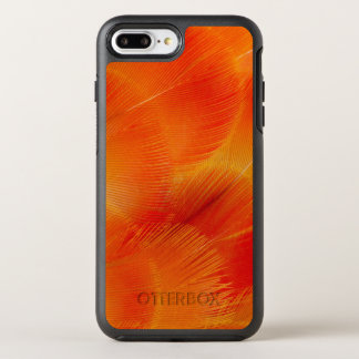 Orange Camelot Macaw Feather Abstract OtterBox Symmetry iPhone 8 Plus/7 Plus Case