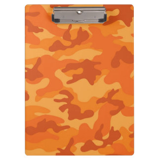 Orange Camo, Camouflage Clipboard