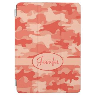 Orange Camo Camouflage Name Personalised iPad Air Cover