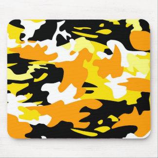 Orange Camo Mousepad