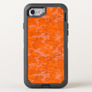 Orange Camo OtterBox Defender iPhone 8/7 Case