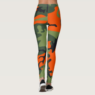 Orange Camouflage Leggings