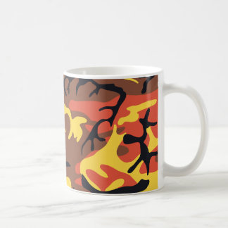 Orange Camouflage Mug