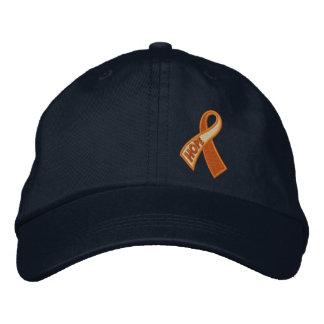 Orange Cancer ADHD Hope Ribbon Awareness Embroidered Hat