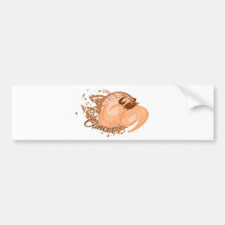 Orange Cancer Horoscope Crab Bumper Sticker