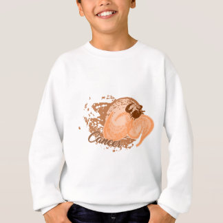 Orange Cancer Horoscope Crab Sweatshirt