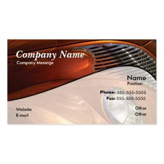 Orange Car Business Cards
