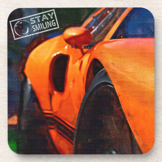 Orange Car Painting Coaster