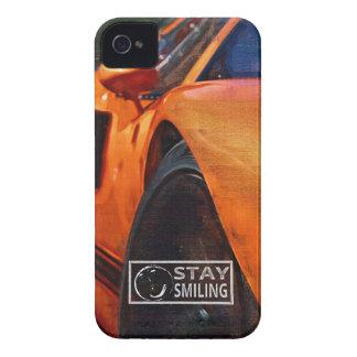 Orange Car Painting iPhone 4 Case