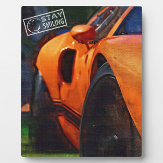 Orange Car Painting Plaque