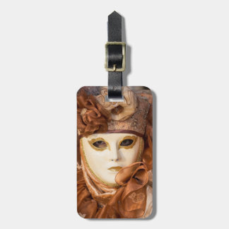 Orange Carnival costume, Venice Luggage Tag